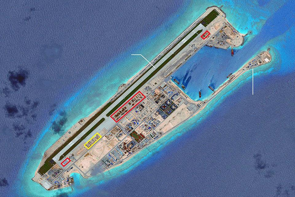 Latest Satellite Photo Of Fiery Cross Reef Photos GMA News Online - Latest satellite photos