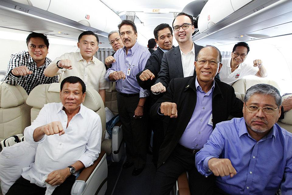 Duterte, Cabinet members fly to Myanmar for official visit ...