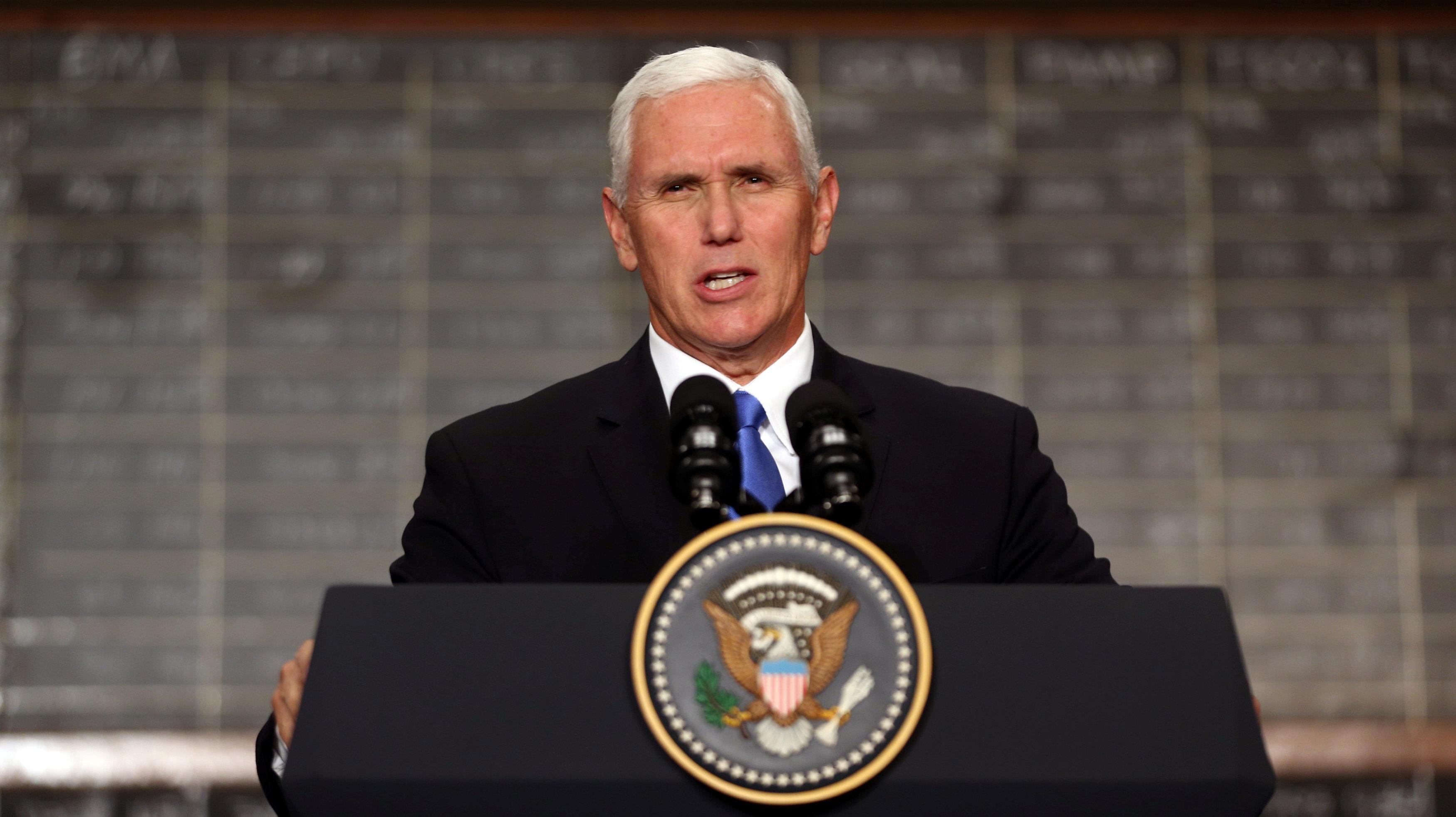 Image result for Pence says 'empire and aggression' have no place in Indo-Pacific