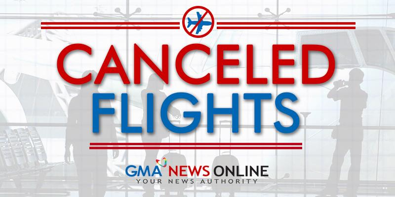 Canceled flights on Tuesday, Jan. 21, 2020