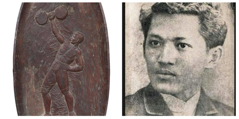 an extremely rare wood sculpture by jose rizal is set to
