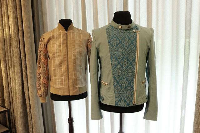 No boring jackets here. Designs by Jor-El Espina (L) and Wear Your Culture (R).