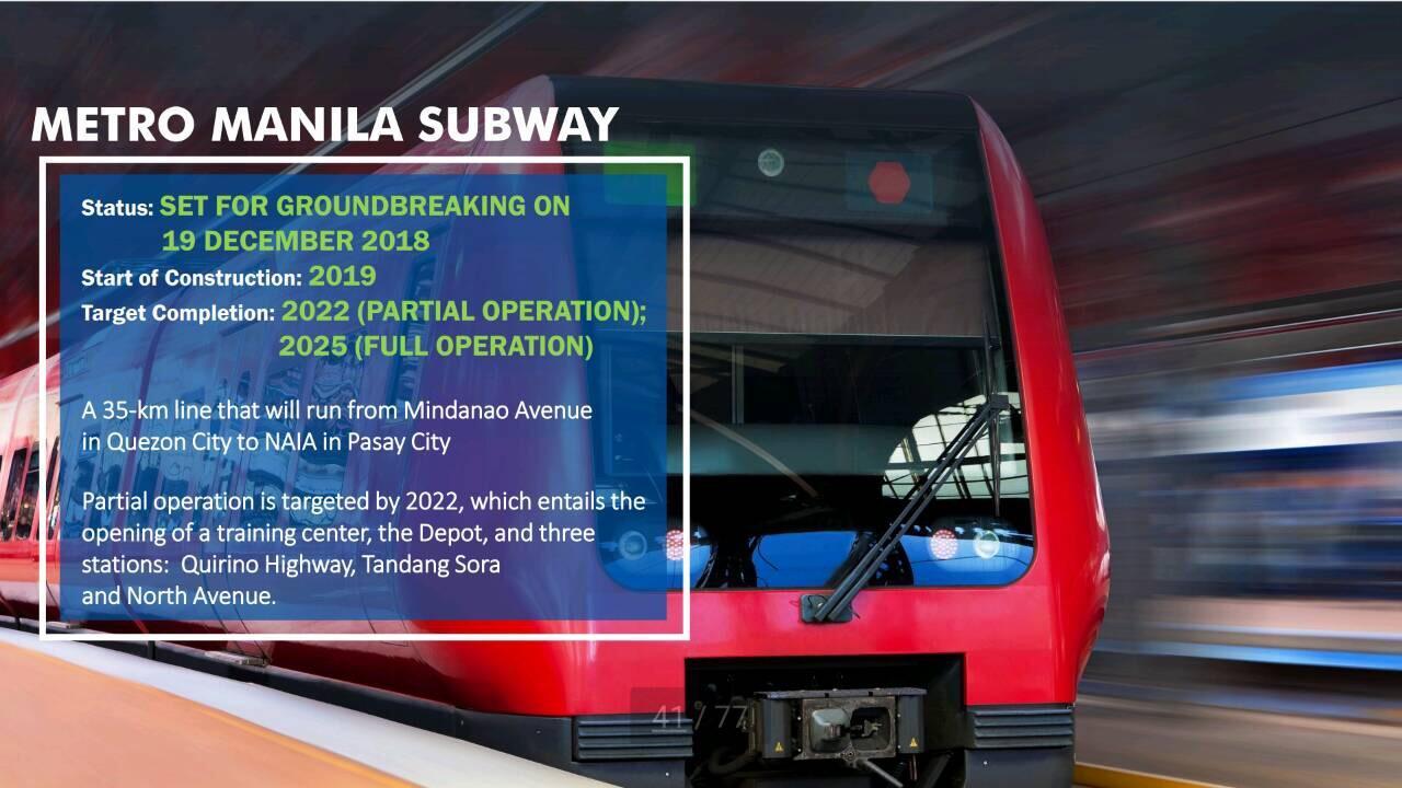 DOTr wants Metro Manila subway operational before Duterte