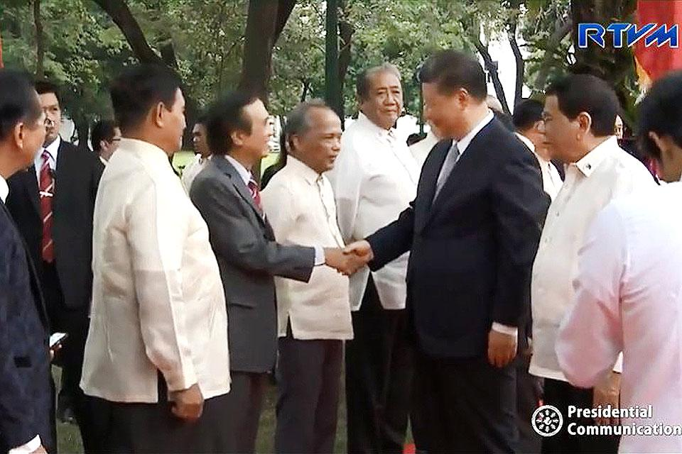 Xi Meets Duterte S Cabinet Members In Malacanang Photos Gma News