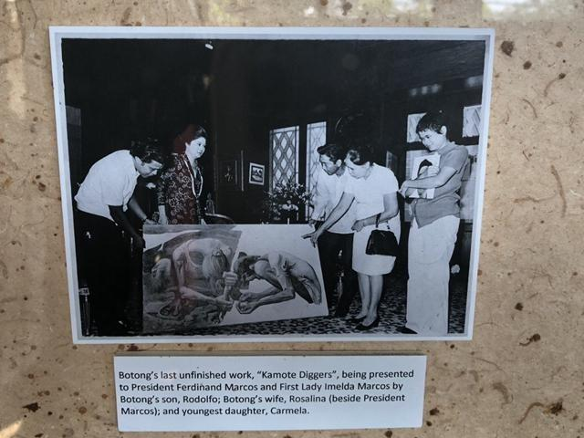 "Photo currently on display at the studio of national artist Carlos ""Botong"" Francisco in his hometown Angono, Rizal"