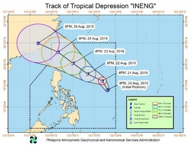 Within 24 hours, Tropical Depression Ineng may intensify into a tropical storm, according to the 11 p.m. weather bulletin of PAGASA.