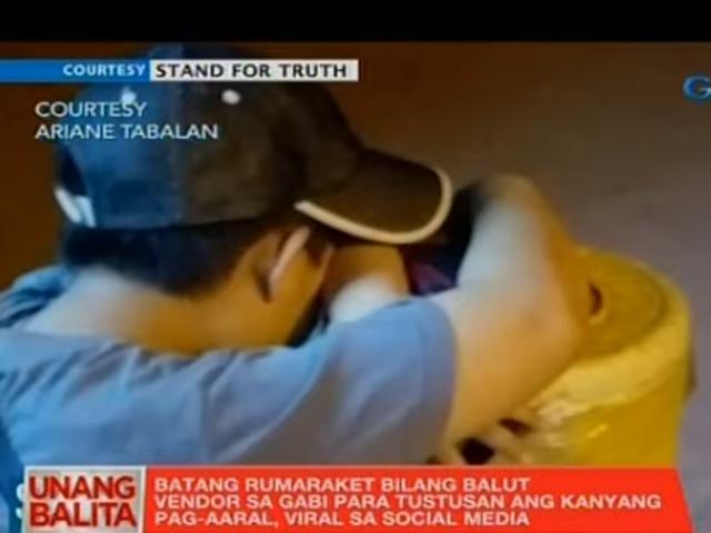 Balut vendor schoolboy