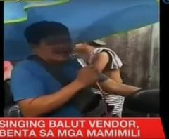 Singing balut vendor