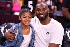 Kobe with her daughter Gianna at the WNBA All Star Game at Mandalay bay Events Center last July.