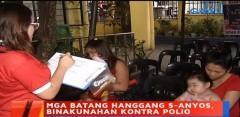 polio vaccination, Bgy. Bagong Pag-asa, QC, Jan. 27, 2020