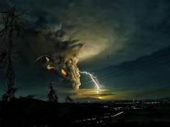 Lightning flashes from Taal Volcano ash cloud