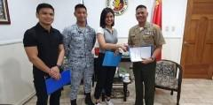 Winwyn Marquez signs up for Philippine Navy's basic citizen's military training