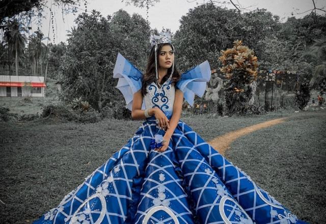 Prom gown na ginawa ni Maverick Oyao para sa kanyang kapatid