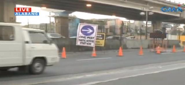 West Service Road in Muntinlupa is now one-way for motorists amid Skyway construction