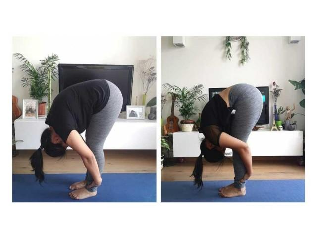 Forward fold (uttanasana)