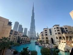 Burj Khalifa, Dubai, United Arab Emirates curfew due to COVID-19
