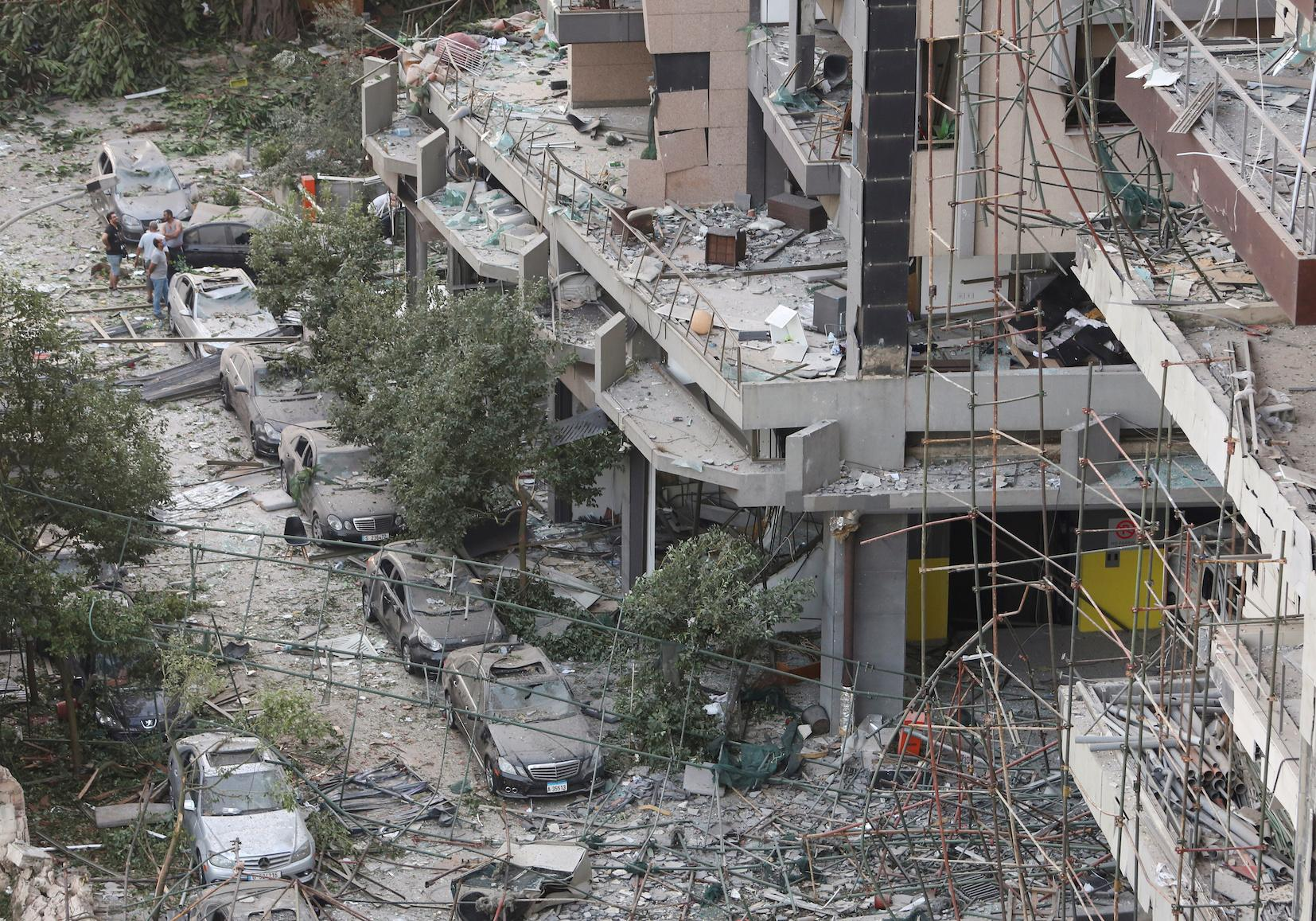Beirut, Lebanon buildings damage explosion