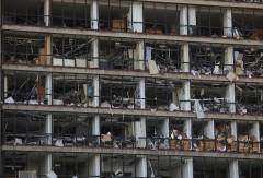 Shockwaves from Beirut blast destroy buildings