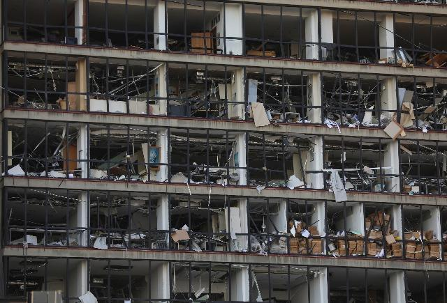 Shockwaves from Beirut blast destroy buildings