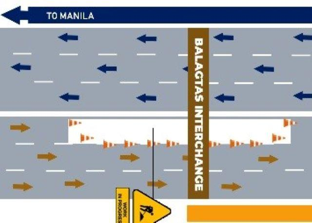 Portion of NLEX northbound lane in Bulacan closed until December 20
