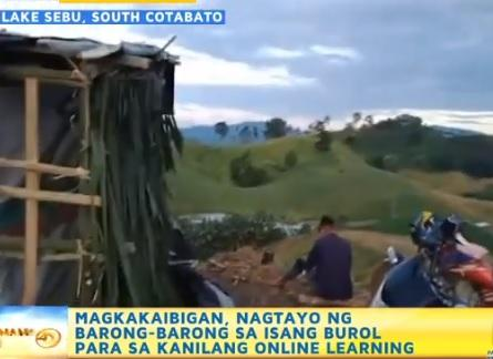 Cotabato students built shack where cell signal is accessible
