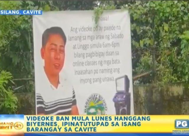 Videoke ban on weekdays in a brangay in Silang, Cavite