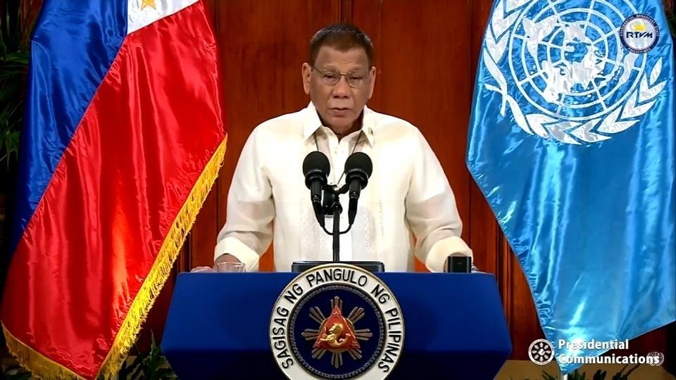 Pres. Rodrigo Duterte speaks at UN General Assembly