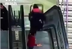 Escalator accident in Russia