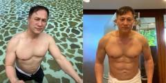 Eric Quizon flexes abs