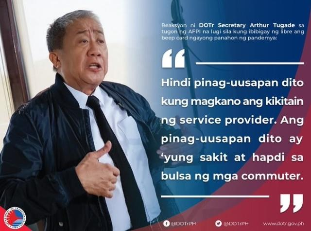 DOTr threatens to stop use of EDSA Busway Beep card unless given free