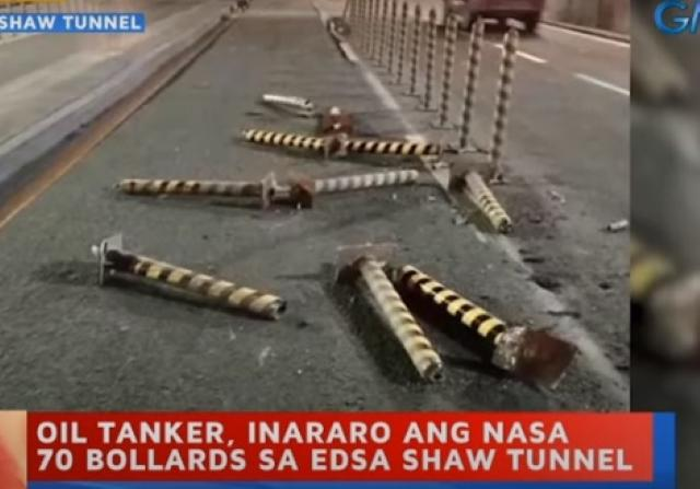 Bollards 'massacre' on EDSA