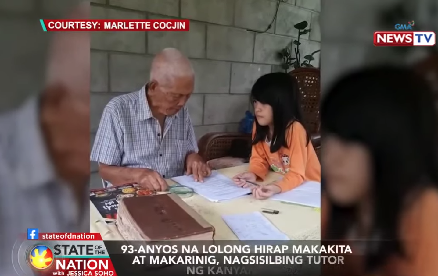 93-year-old, despite poor eyesight and hearing, tutors grandchild in Tacurong City