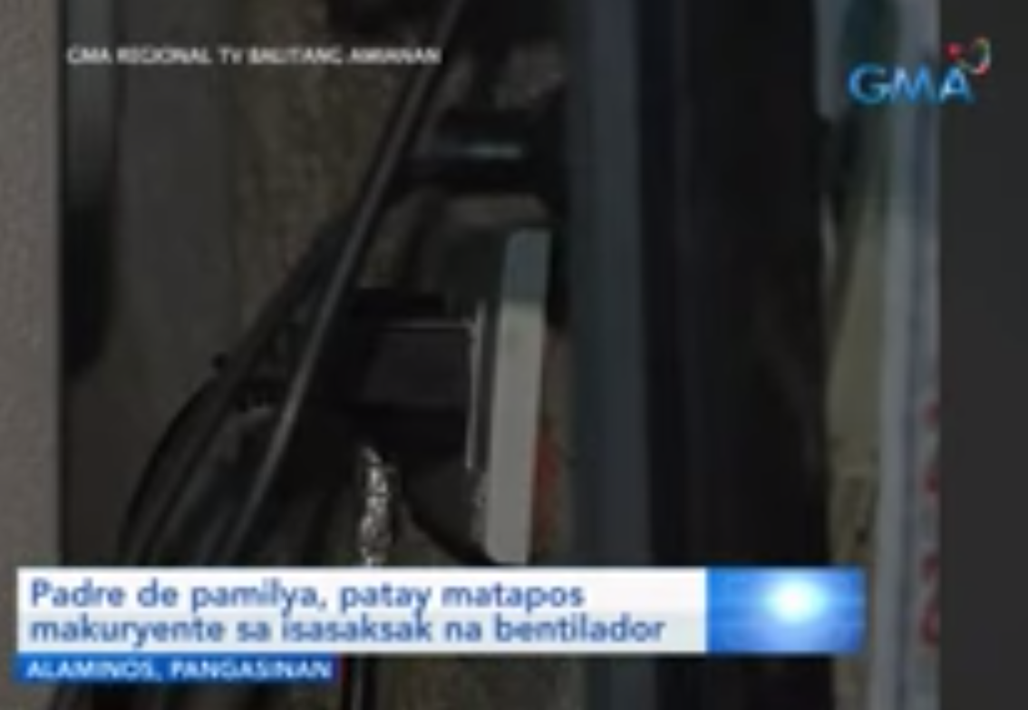 Man in Pangasinan dies from electrocution while trying to plug in an electric fan