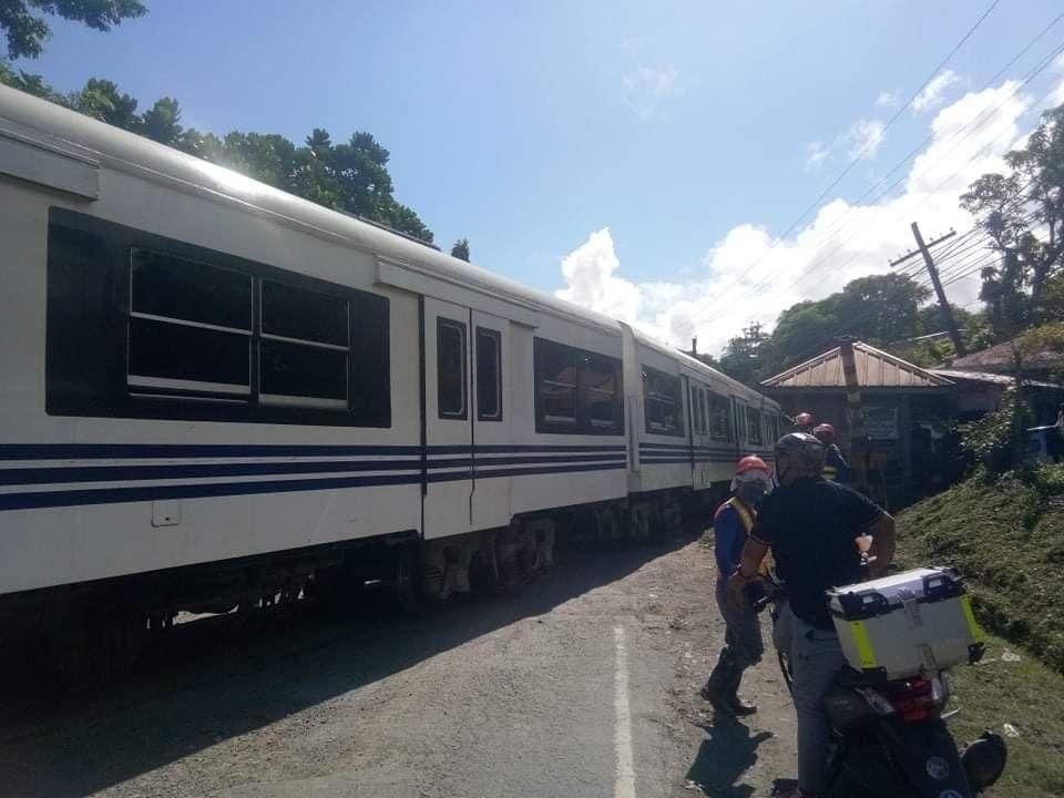 Tren ng PNR, nadiskaril sa Gumaca, Quezon