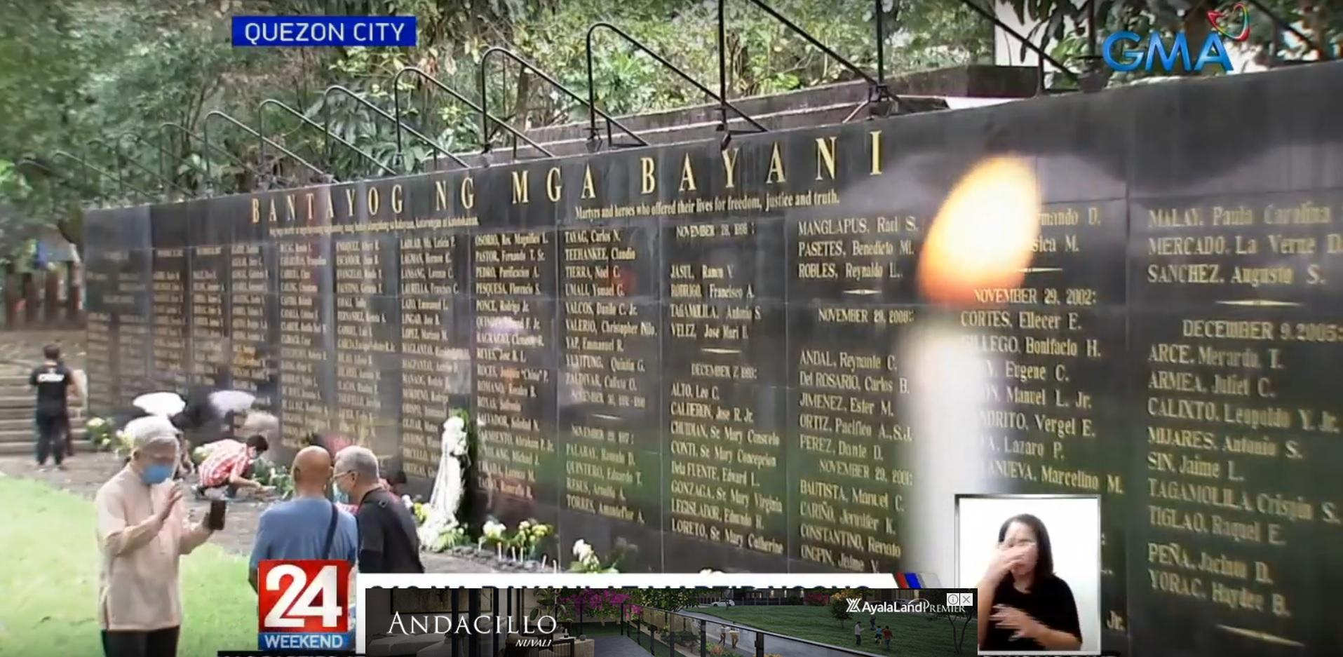Family, friends honor 316 heroes who opposed the Marcos dictatorship