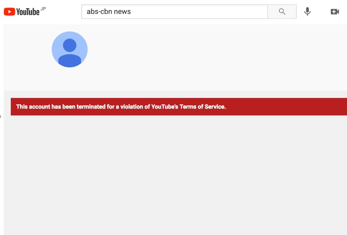 ABS-CBN News' YouTube channels down