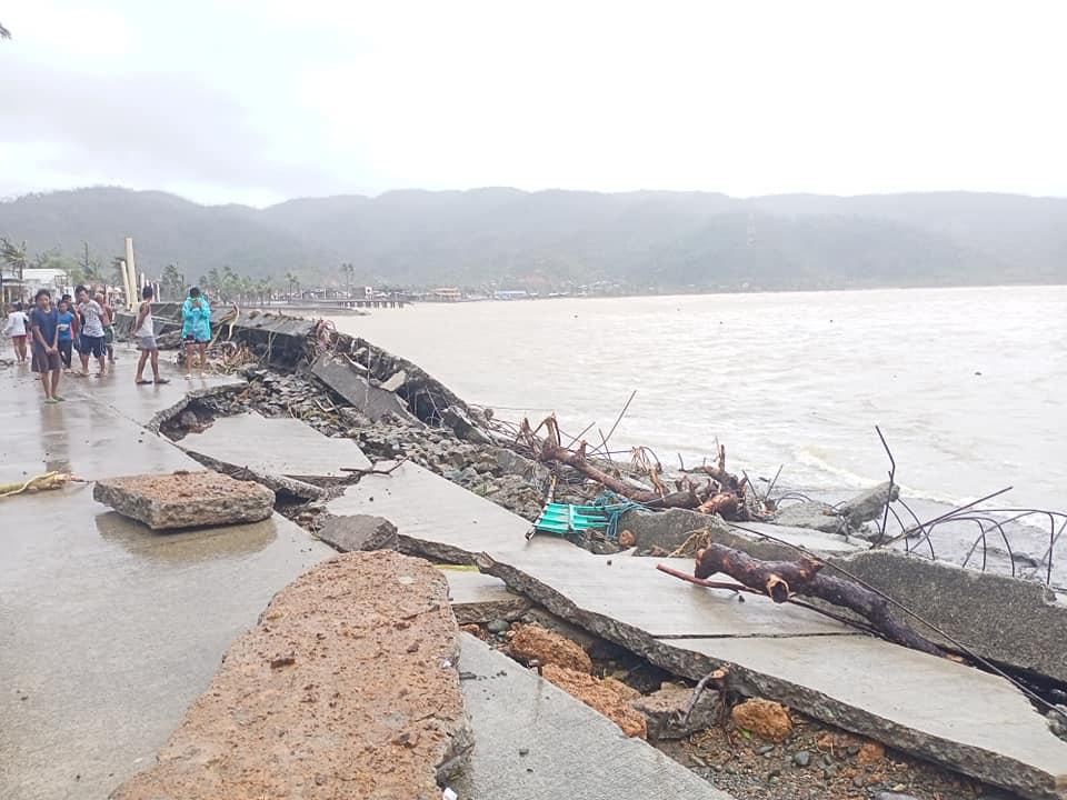 Roads and houses were destroyed by Rolly in Catanduanes