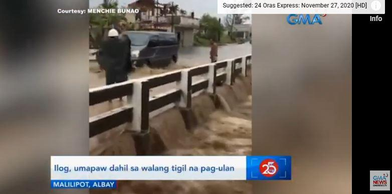 River in Albay overflows due to rains