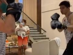 Baby Joaquin enjoys watching his dad Rodjun Cruz boxing