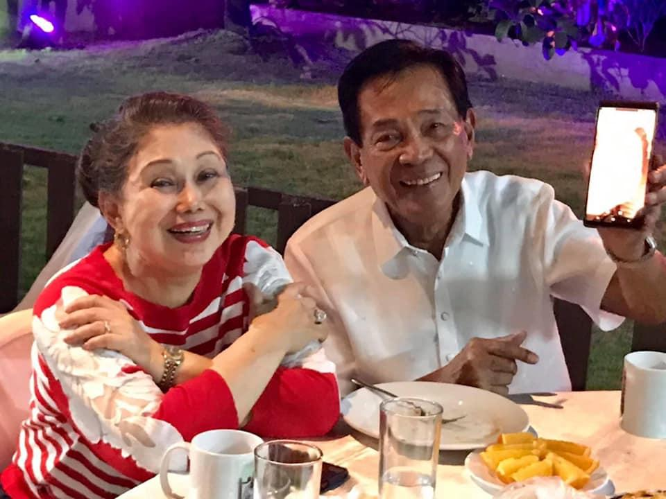 Corazon Abalos and husband Benjamin Abalos Sr.