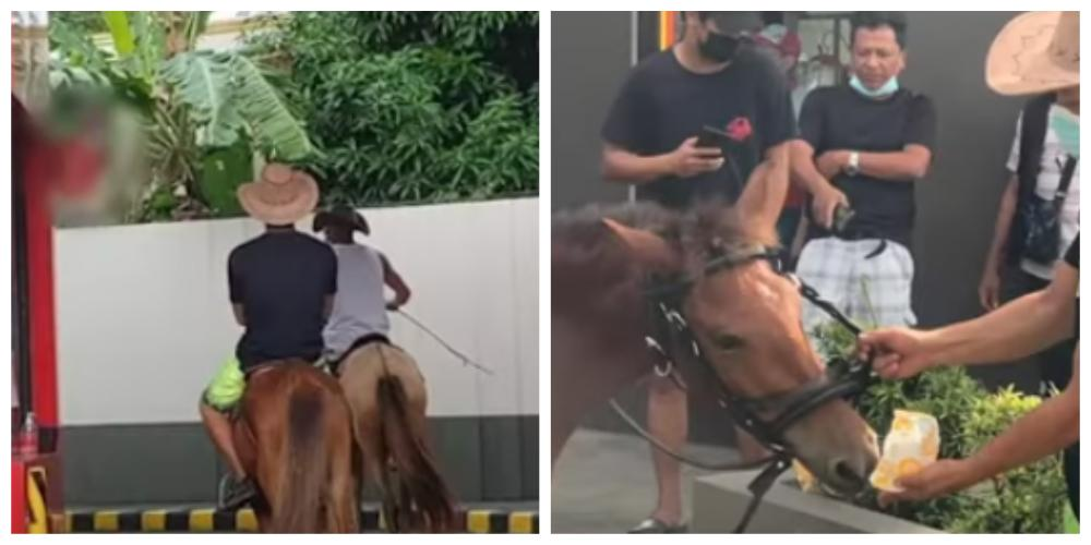 Horses drive through in Aklan