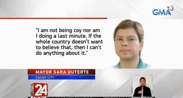 Sara Duterte: I don't want to be president