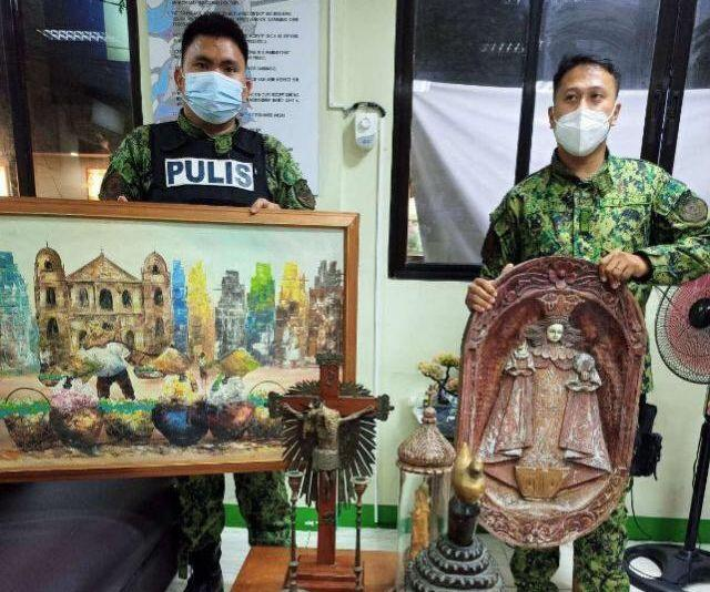 2 suspected Akyat-Bahay gang members nabbed for allegedly stealing religious antiques