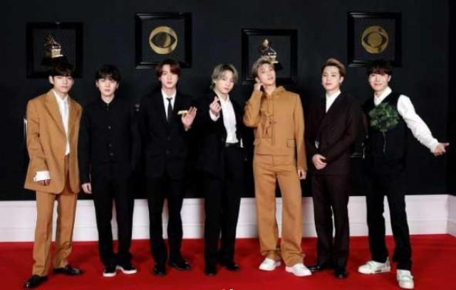 BTS create their own red carpet for the Grammy's 2021