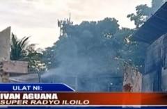 Fire in the municipality of Leganes, Iloilo