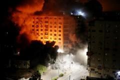 Israeli air strikes hit Gaza City