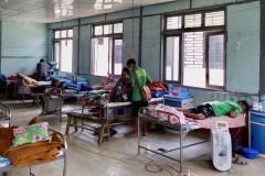 COVID-19 patients receive treatment in Cikha, Myanmar