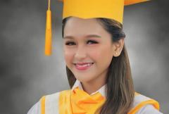 Golden Cañedo, graduate na ng senior high school