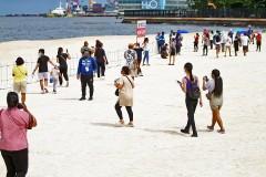 Manila Bay dolomite beach open to the public for three days