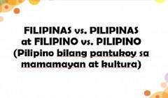 Pilipinas vs Filipinas